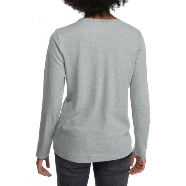 Kim Rogers® Women's Perfectly Soft Long Sleeve Graphic T-Shirt