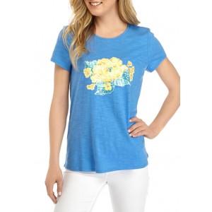 Kim Rogers® Women's Short Sleeve High Low Art Graphic T-Shirt