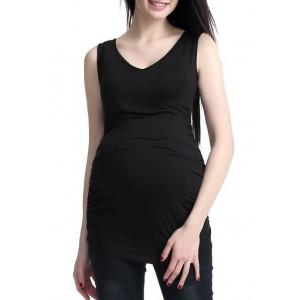 Kimi & Kai Maternity Lace Back Tank Top