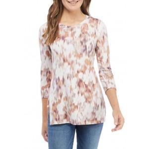cupio blush Women's Side Slit Printed Tunic Shirt