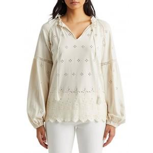 Lauren Ralph Lauren Eyelet Jersey Tunic