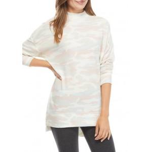 New Directions® Studio Women's Long Sleeve Mock Neck Tunic Shirt
