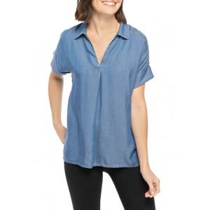 Crown & Ivy™ Women's Short Dolman Sleeve Popover Shirt