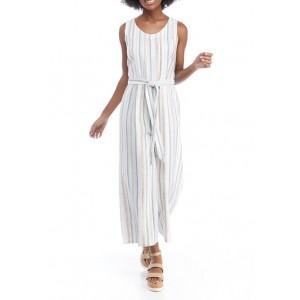 Cupio Women's Multi Stripe Jumpsuit