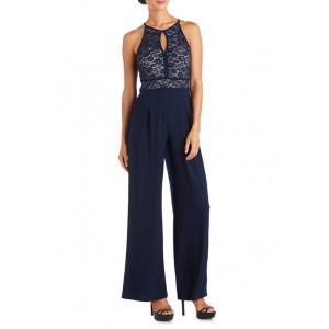 Nightway Women's Lace Jersey Jumpsuit