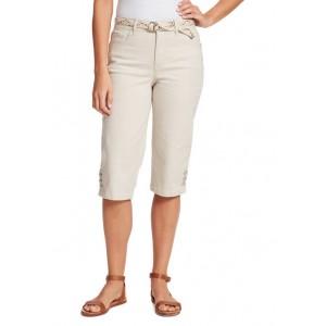 Gloria Vanderbilt Women's Mila Belted Skimmer Capri Pants