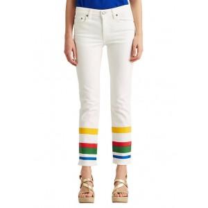 Lauren Ralph Lauren Mid-Rise Straight Ankle Jeans