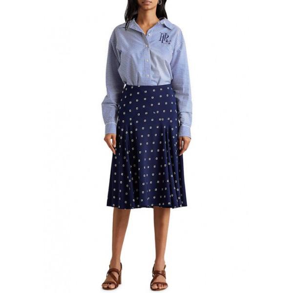 Lauren Ralph Lauren Print Crepe Peasant Skirt