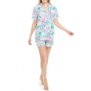 Crown & Ivy™ Paisley Shorty Pajama Set