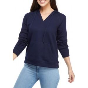 Crown & Ivy™ Women's Long Sleeve V-Neck Hoodie