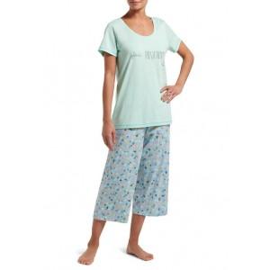 HUE® Plant Positivity Capri Pajama Set