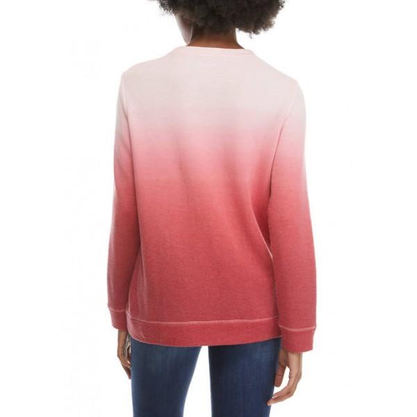 Kim Rogers® Women's Long Sleeve Dip Dye Sweatshirt