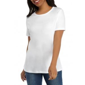 Kim Rogers® Women's Perfectly Soft Short Sleeve Crew Neck T-Shirt