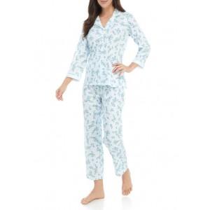 Miss Elaine 2 Piece Floral Cottonessa Pajama Set