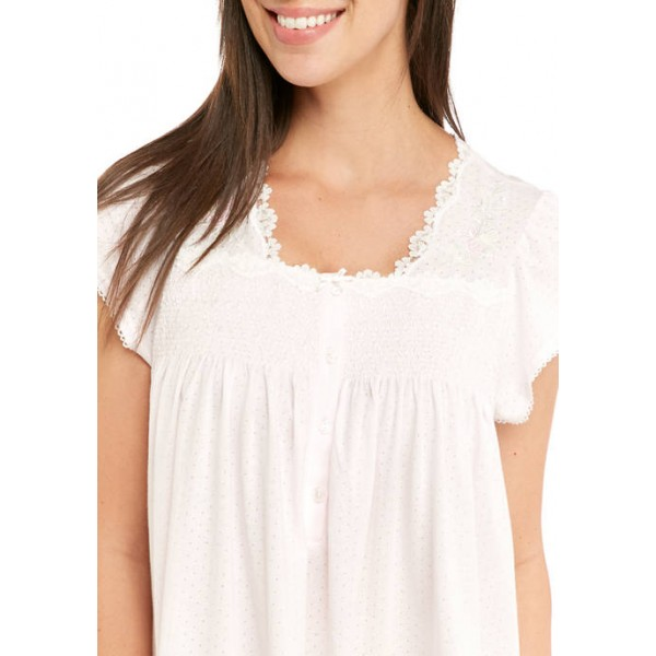 Miss Elaine Silky Knit Short Nightgown