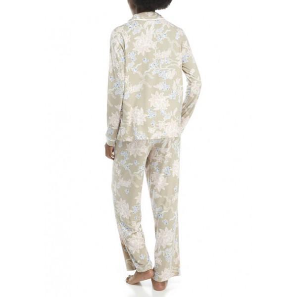 New Directions® Lush Lux Notch Pajama Set