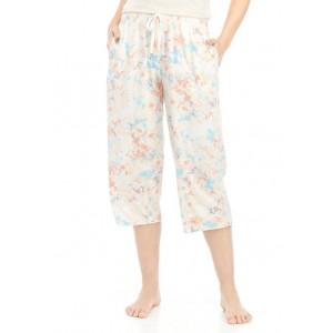 New Directions® Printed Capri Sleep Pants