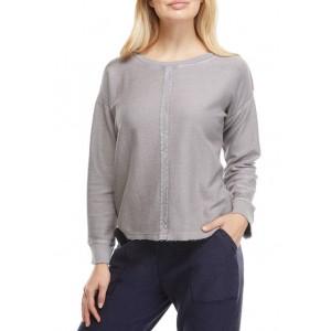 New Directions® Studio Women's Raw Seam Pullover