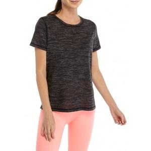 ZELOS Short Sleeve Split Back T-Shirt