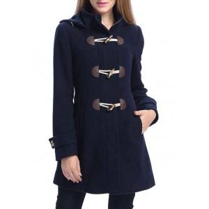 Kimi & Kai Women's Daisy Hooded Wool Toggle Coat
