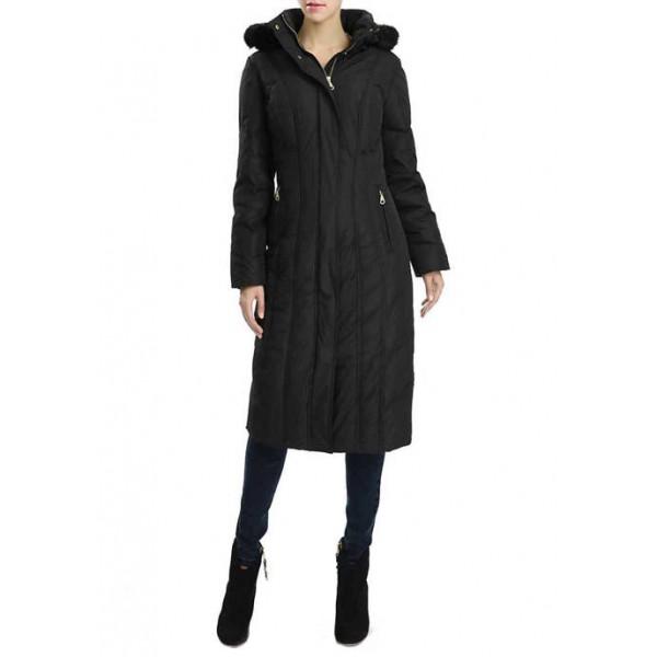 Kimi & Kai Women's Waterproof Long Hooded Puffer Down Coat
