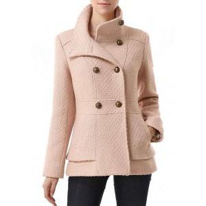 Kimi & Kai Women's Wool Blend Boucle Pea Coat
