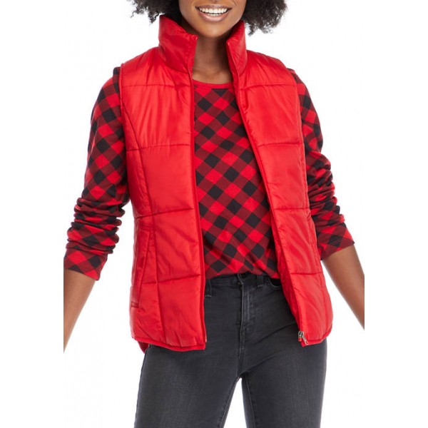 New Directions® Women's Solid Puffer Vest