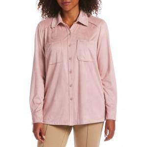 Rafaella Women's Long Sleeve Suede Shirt Jacket