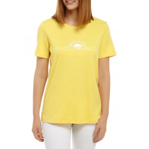Kim Rogers® Women's Perfectly Soft Short Sleeve Crew Neck Graphic T-Shirt