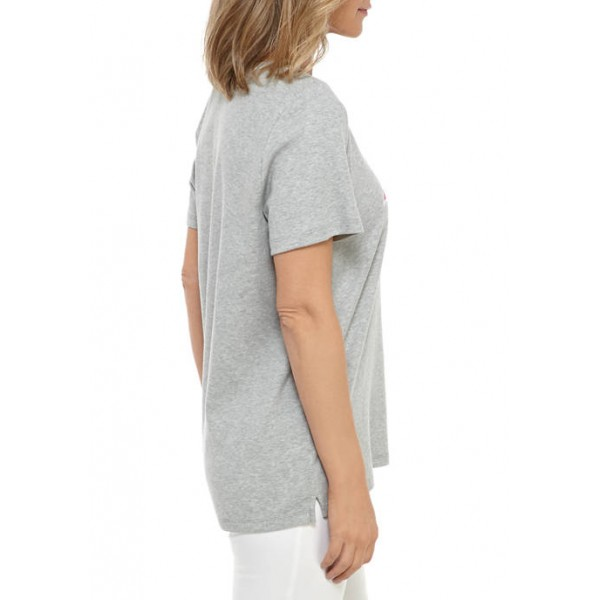 Kim Rogers® Women's Perfectly Soft Short Sleeve Graphic V-Neck T-Shirt