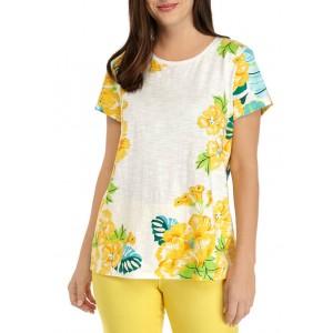 Kim Rogers® Women's Short Sleeve High Low Art T-Shirt