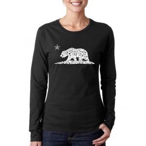 LA Pop Art Women's Word Art Long Sleeve T-Shirt - California Dreamin'