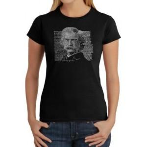 LA Pop Art Word Art T-Shirt - Mark Twain