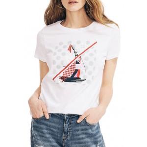 Nautica Women's Sailboat Graphic T-Shirt