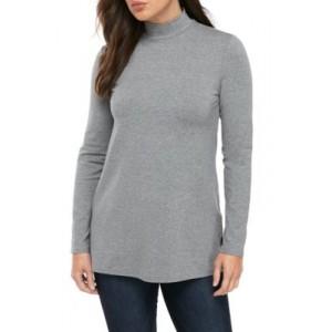 New Directions® Women's Long Sleeve Heather Turtleneck Top