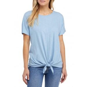 New Directions® Women's Short Sleeve Tie Front T-Shirt