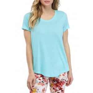 ZELOS Short Sleeve Scoop Neck T-Shirt