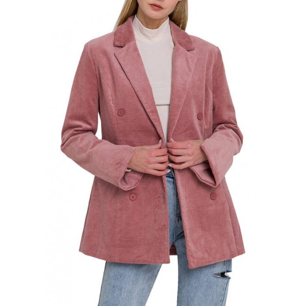 Endless Rose Women's Corduroy Double Breasted Jacket
