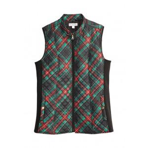 Kim Rogers® Women's Print Zip Puffer Vest