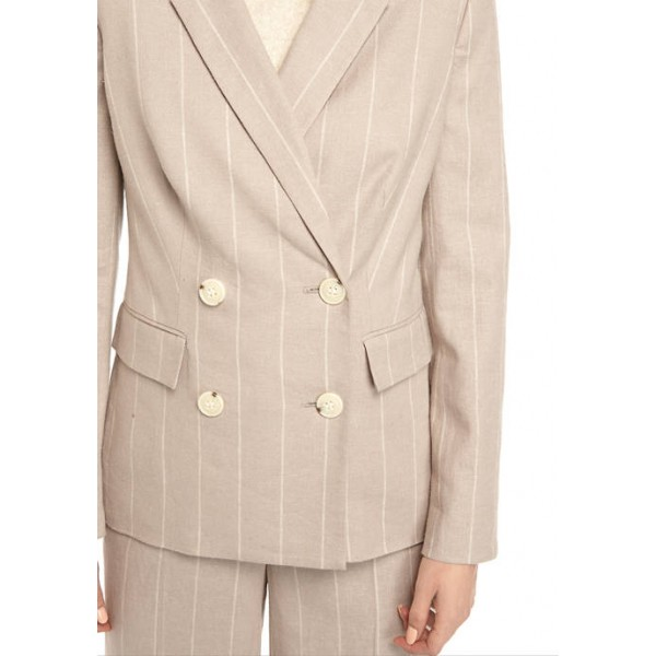 THE LIMITED Women's Linen Double Breasted Blazer