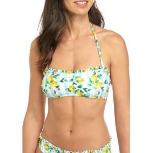 Cabana by Crown & Ivy™ Lemonade Party Ruffle Bandeau Swim Top