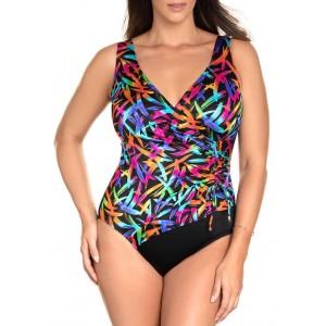 Longitude Sparkler Surplice One Piece Swimsuit