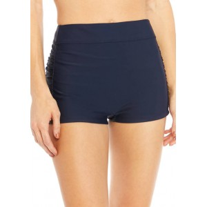 New Directions® Swim Boy Shorts with Shirring