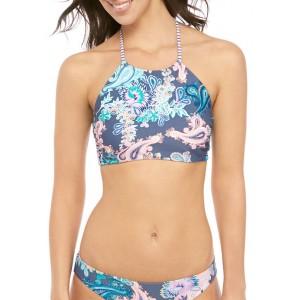 TRUE CRAFT High Neck Reversible Halter Swim Top