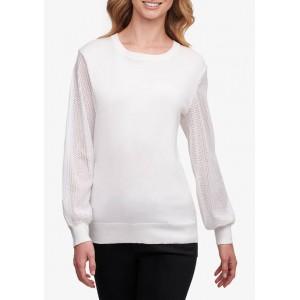 DKNY Sequin Sleeve Crew Neck Sweater