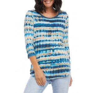 Karen Kane Women's 3/4 Sleeve Shirttail T-Shirt