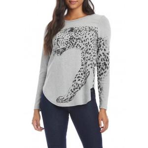 Karen Kane Women's Foil Cheetah T-Shirt
