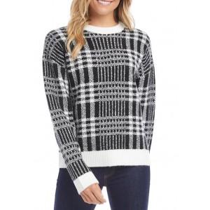 Karen Kane Women's Plaid Pullover Sweater