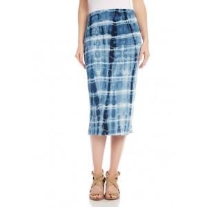 Karen Kane Women's Tie Dye Midi Skirt