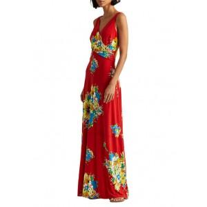Lauren Ralph Lauren Floral Jersey Sleeveless Maxi Dress